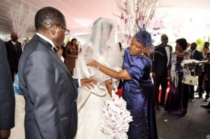 Zimbabwean-President-Robert-Mugabe-and-First-Lady-Grace-Mugabe-during-the-wedding-ceremony-of-their-daughter-Bona-Mugabe-and-her-husband-Simba-