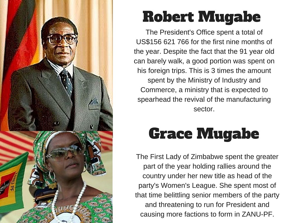 Robert and grace Mugabe slide