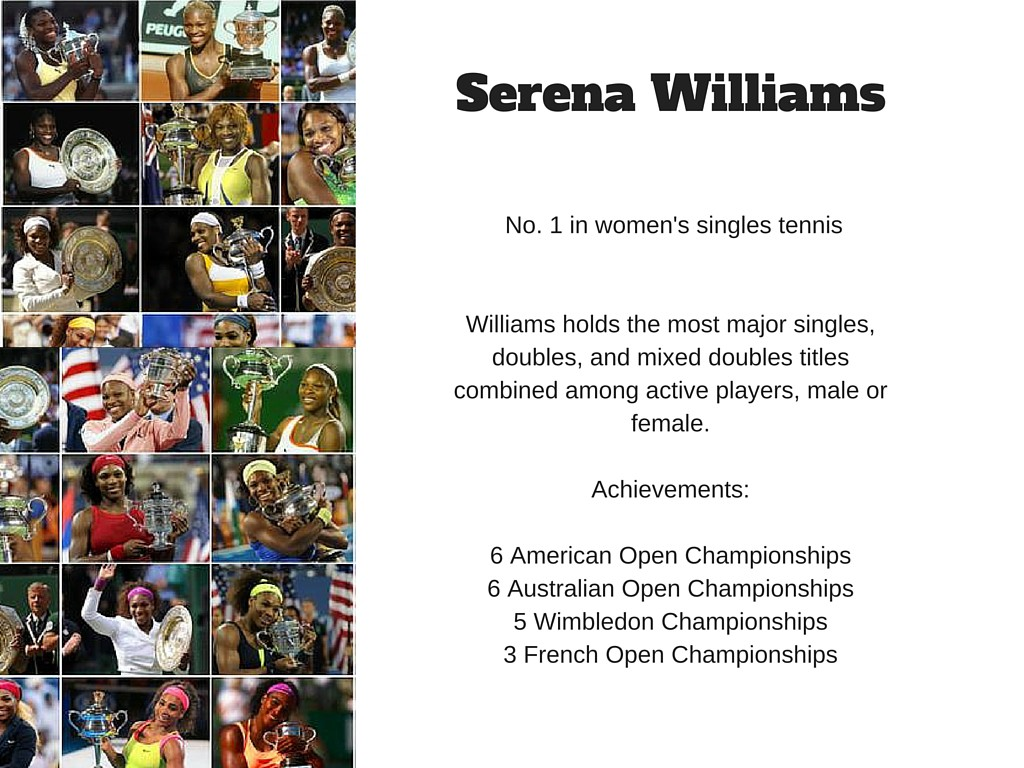 Serena Williams slide