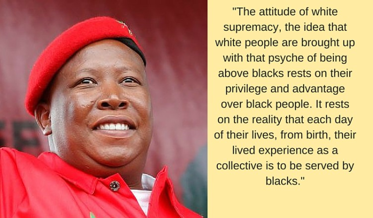Julius Malema 2016 with quote