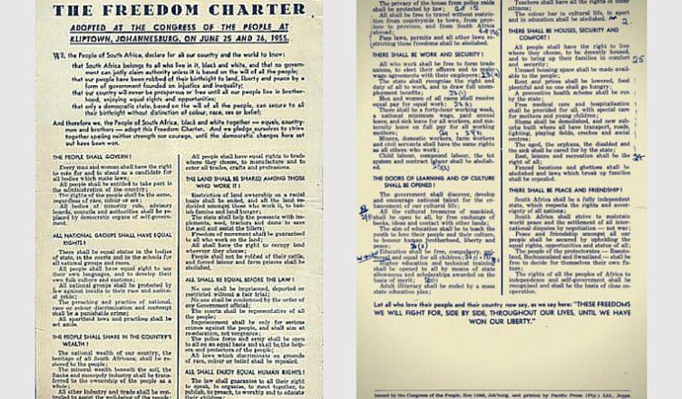 Freedom Charter SA Banner